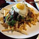 """<p><a href=""""https://go.redirectingat.com?id=74968X1596630&url=https%3A%2F%2Fwww.tripadvisor.com%2FRestaurant_Review-g45963-d2004637-Reviews-Bachi_Burger-Las_Vegas_Nevada.html&sref=https%3A%2F%2Fwww.redbookmag.com%2Ffood-recipes%2Fg34142791%2Fbest-chili-in-america-by-state%2F"""" rel=""""nofollow noopener"""" target=""""_blank"""" data-ylk=""""slk:Bachi Burger"""" class=""""link rapid-noclick-resp"""">Bachi Burger</a>, Las Vegas</p><p>""""The Oxtail Chili Cheese Fries are AMAZING! Have them add bacon to the fries, promise you will not regret it."""" -Foursquare user <a href=""""https://foursquare.com/therealmrbacon"""" rel=""""nofollow noopener"""" target=""""_blank"""" data-ylk=""""slk:Mr BACON"""" class=""""link rapid-noclick-resp"""">Mr BACON</a></p>"""