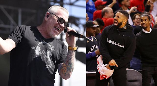 Smash Mouth's official Twitter account fired a dart at Drake less than 24 hours after the Toronto Raptors advanced to the NBA Finals. (Getty Images)