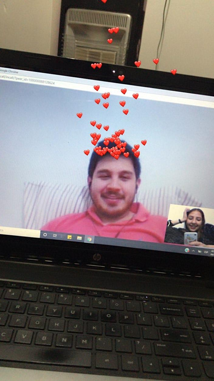 Leonardo Escobosa and Yailin Espinoza have resorted to video calls and text messages to keep their relationship alive as restrictions on travel at the U.S.-Mexico border enter their seventh month. Escobosa lives in El Paso and Espinoza lives in Ciudad Juarez.