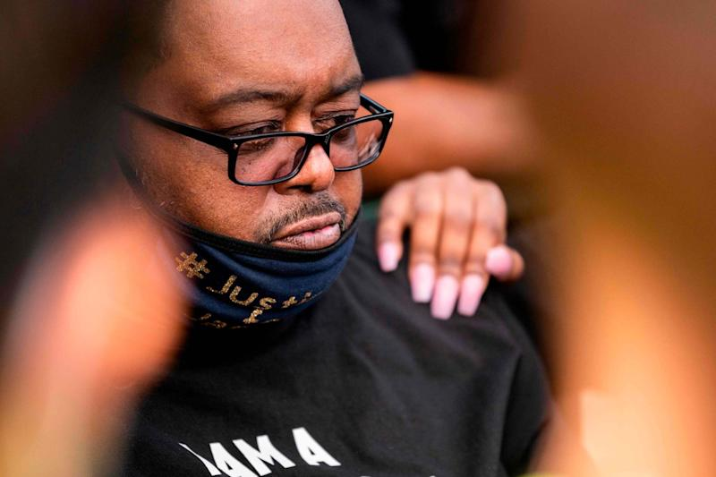 Jacob Blake Sr., father of Jacob Blake, looks on during a rally against racism and police brutality in Kenosha, Wisconsin (AFP via Getty Images)