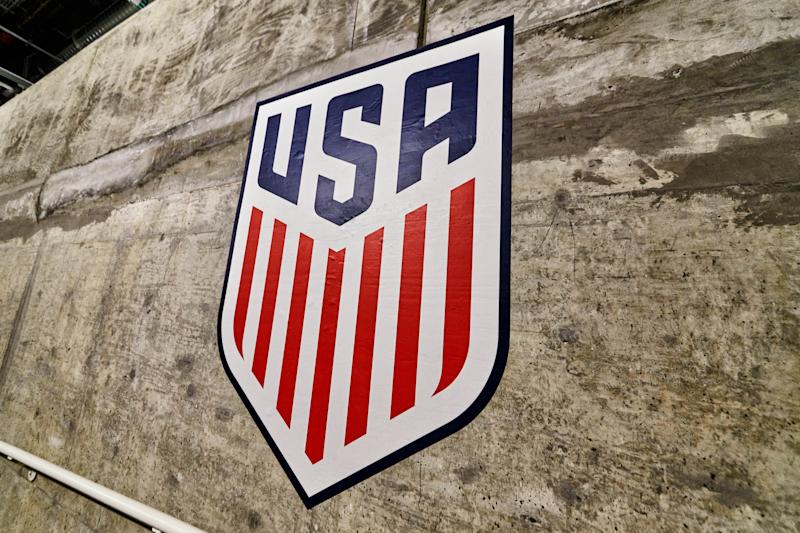 A detailed view of the United States Crest Logo.