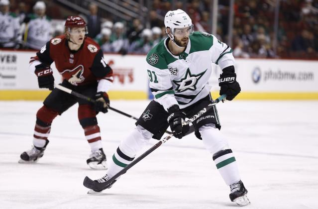 "If you're going to trade someone like Dallas Stars center <a class=""link rapid-noclick-resp"" href=""/nhl/players/4962/"" data-ylk=""slk:Tyler Seguin"">Tyler Seguin</a> from your fantasy team, open up the bidding and see where it takes you. (AP Photo/Ross D. Franklin)"