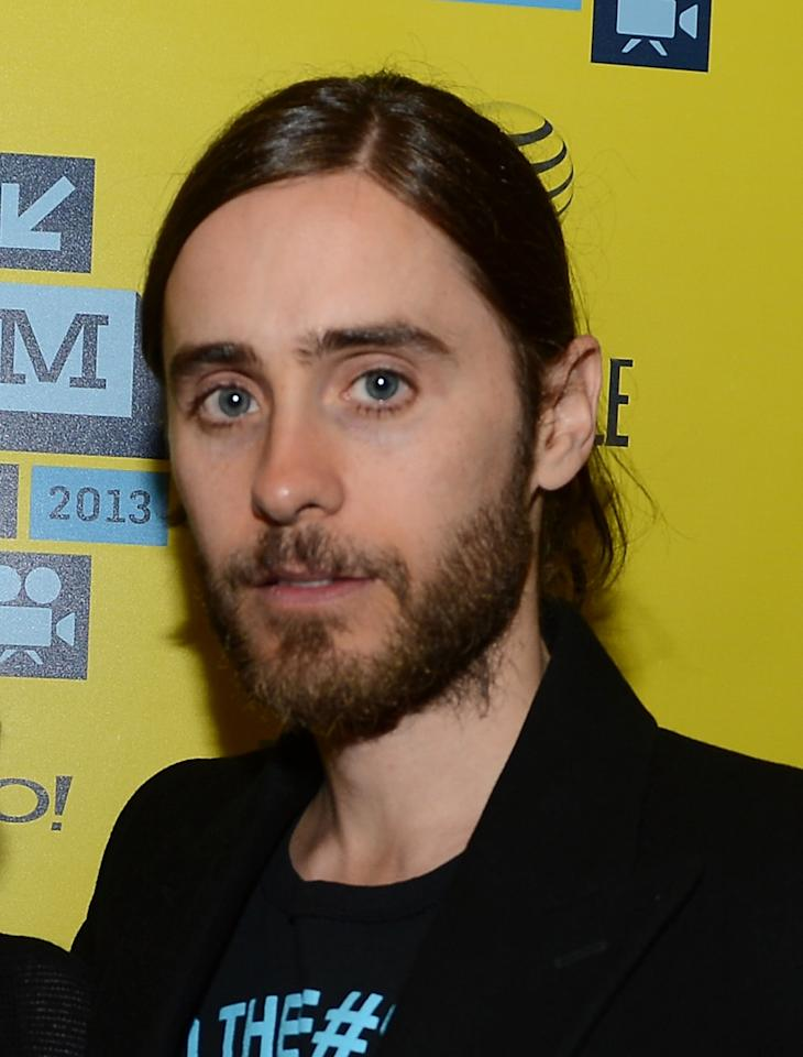 """AUSTIN, TX - MARCH 13:  Actor Jared Leto arrives to the screening of """"Artifact"""" during the 2013 SXSW Music, Film + Interactive Festival at the Paramount Theatre on March 13, 2013 in Austin, Texas.  (Photo by Michael Buckner/Getty Images for SXSW)"""
