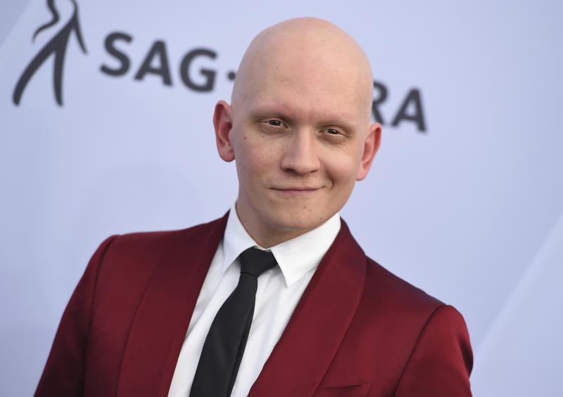 Anthony Carrigan arrives at the 25th annual Screen Actors Guild Awards at the Shrine Auditorium & Expo Hall on Sunday, Jan. 27, 2019, in Los Angeles. (Photo by Jordan Strauss/Invision/AP)