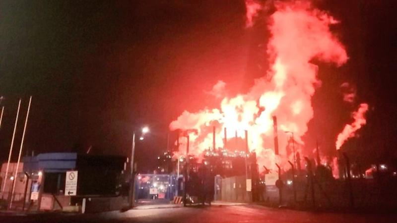 Fire fears sparked by 'intense flaring' at chemical plant