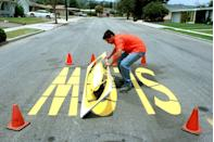 """<p>A teenager in the L.A. area earned his paychecks in the summer of 1997 by doing road work, which involved stenciling the streets.</p><p><strong>RELATED:</strong> <a href=""""https://www.goodhousekeeping.com/life/entertainment/g2518/hit-songs-of-summer/"""" rel=""""nofollow noopener"""" target=""""_blank"""" data-ylk=""""slk:50+ Years of Summer's Biggest Hit Songs"""" class=""""link rapid-noclick-resp"""">50+ Years of Summer's Biggest Hit Songs</a></p>"""
