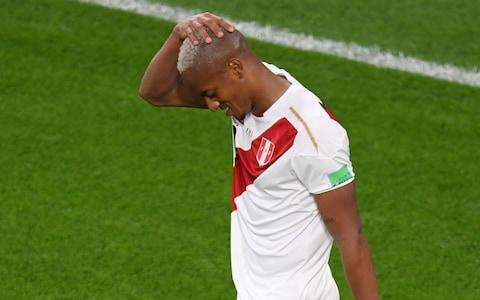 Andre Carrillo reacts after another chance goes begging - Credit: AFP
