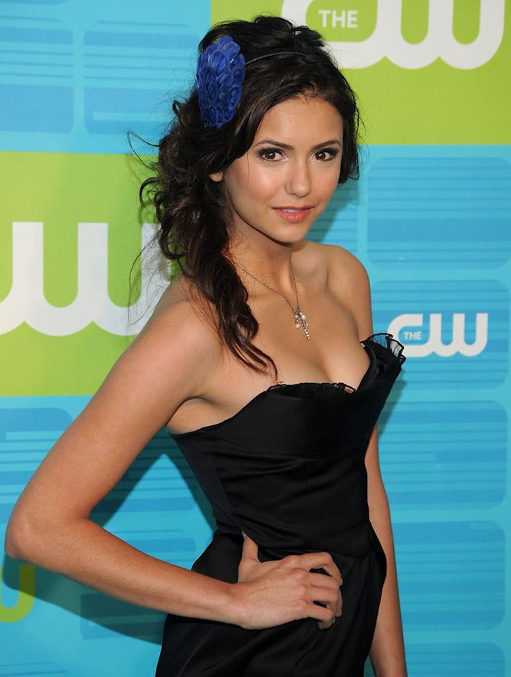 """<a href=""""/nina-dobrev/contributor/2248547"""">Nina Dobrev</a> (""""<a href=""""/vampire-diaries/show/44270"""">Vampire Diaries</a>"""") attends the 2010 The CW Upfront at Madison Square Garden on May 20, 2010 in New York City."""