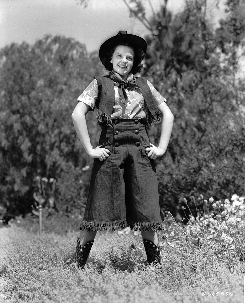 Garland in a Western costume for an MGM still.