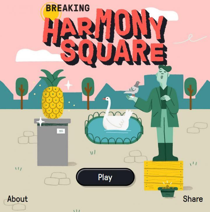'Harmony Square' is an online game developed by researchers at the University of Cambridge sees players step into the role as 'Chief Disinformation Officer' to sabotage elections in a peaceful town.