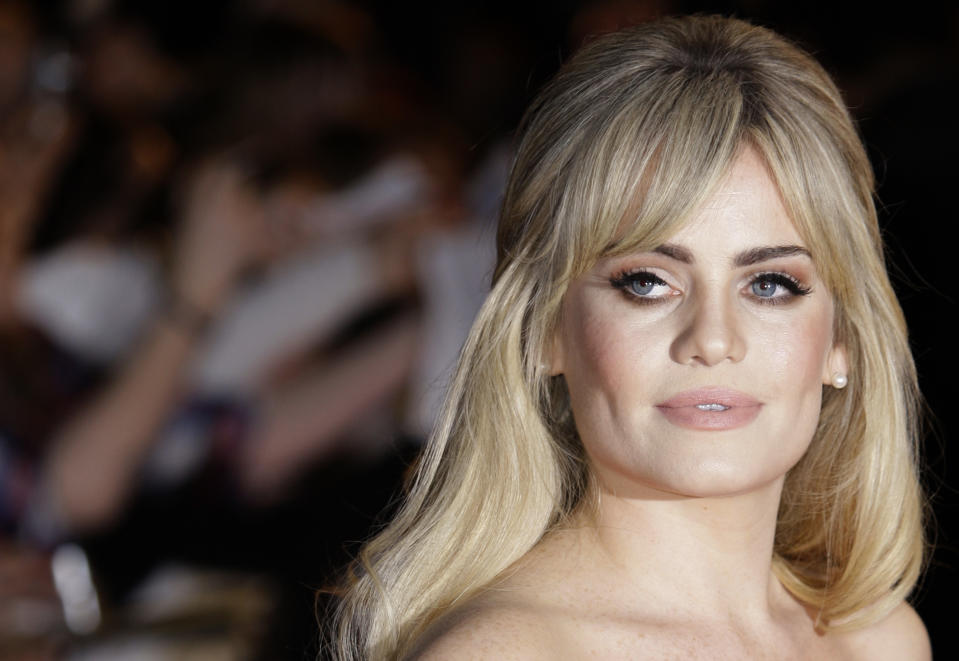 British singer Duffy arrives at the Brit Awards 2009 at Earls Court exhibition centre in London, England, Wednesday, Feb. 18, 2009. (AP Photo/Joel Ryan)