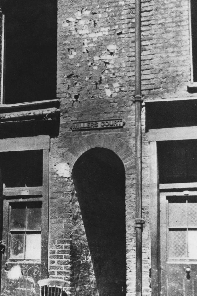 Miller's Court in Dorset Street, east London, where Mary Jane Kelly was murdered by serial killer Jack the Ripper on November 9, 1888. (Getty Images)