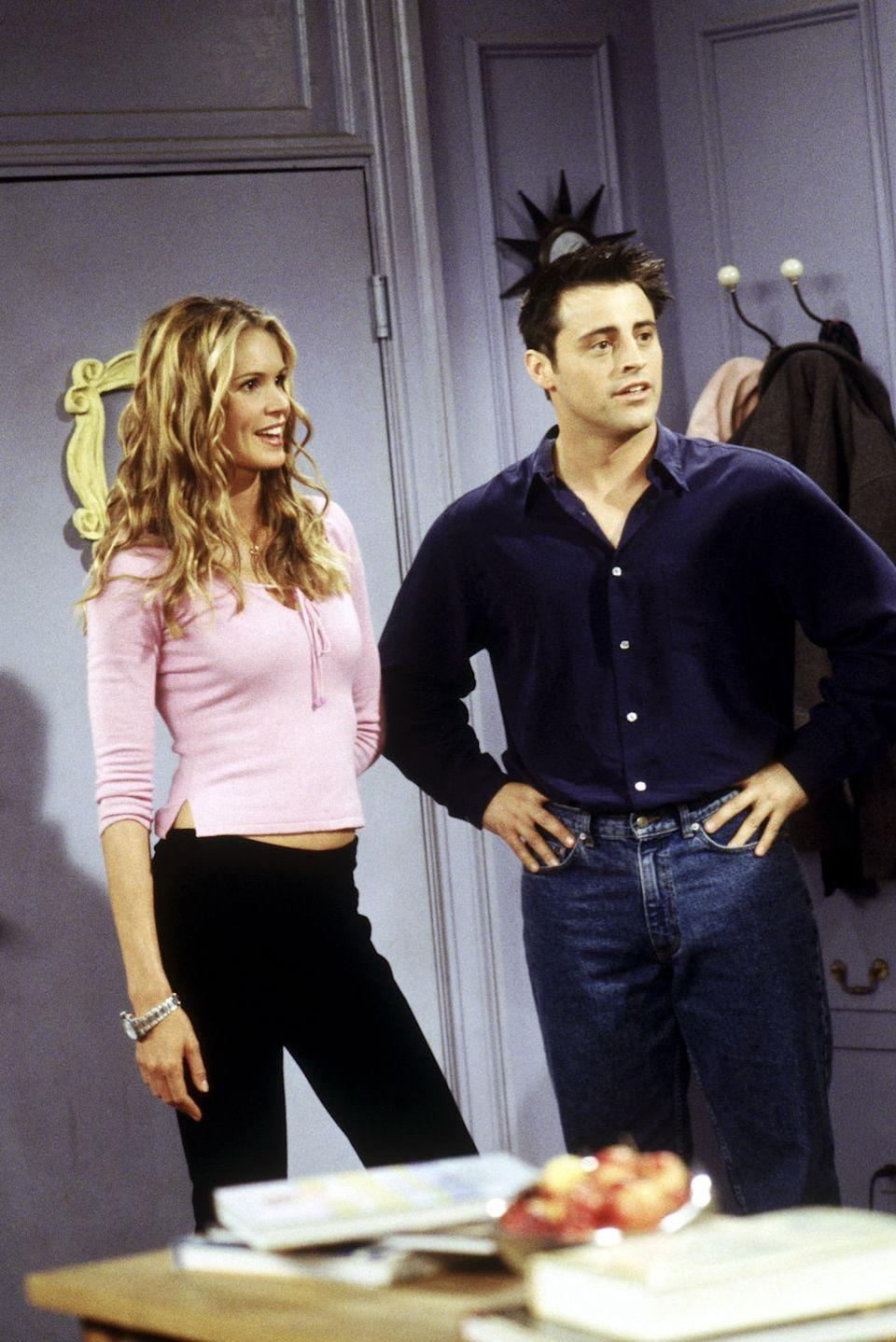 <p>One of Joey's more serious relationships involves him falling head over heels for his dancer roommate, Janine, who was played by Australian model Elle Macpherson.</p>