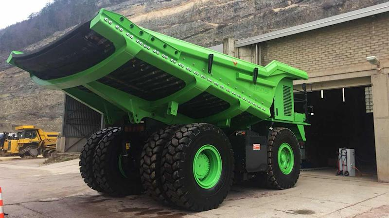 This 110-tonne behemoth could be one of the greenest vehicles on the planet. Image: eMining AG.