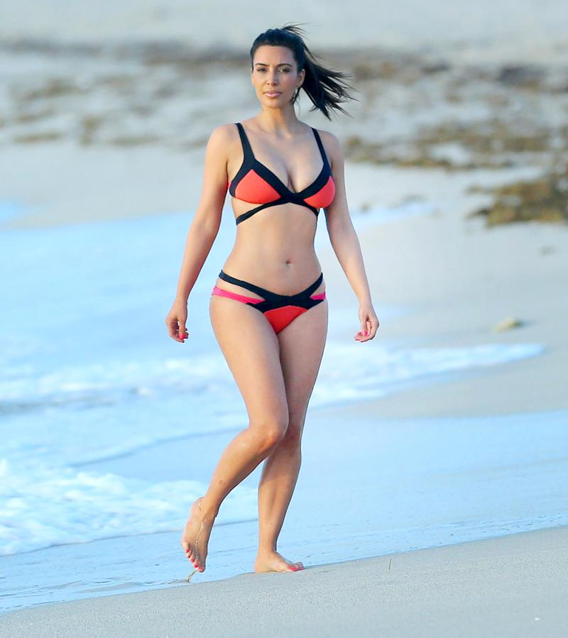 01a778e6c14be Good Morning!  Kim Kardashian West Hits the Waves on a Paddle Board