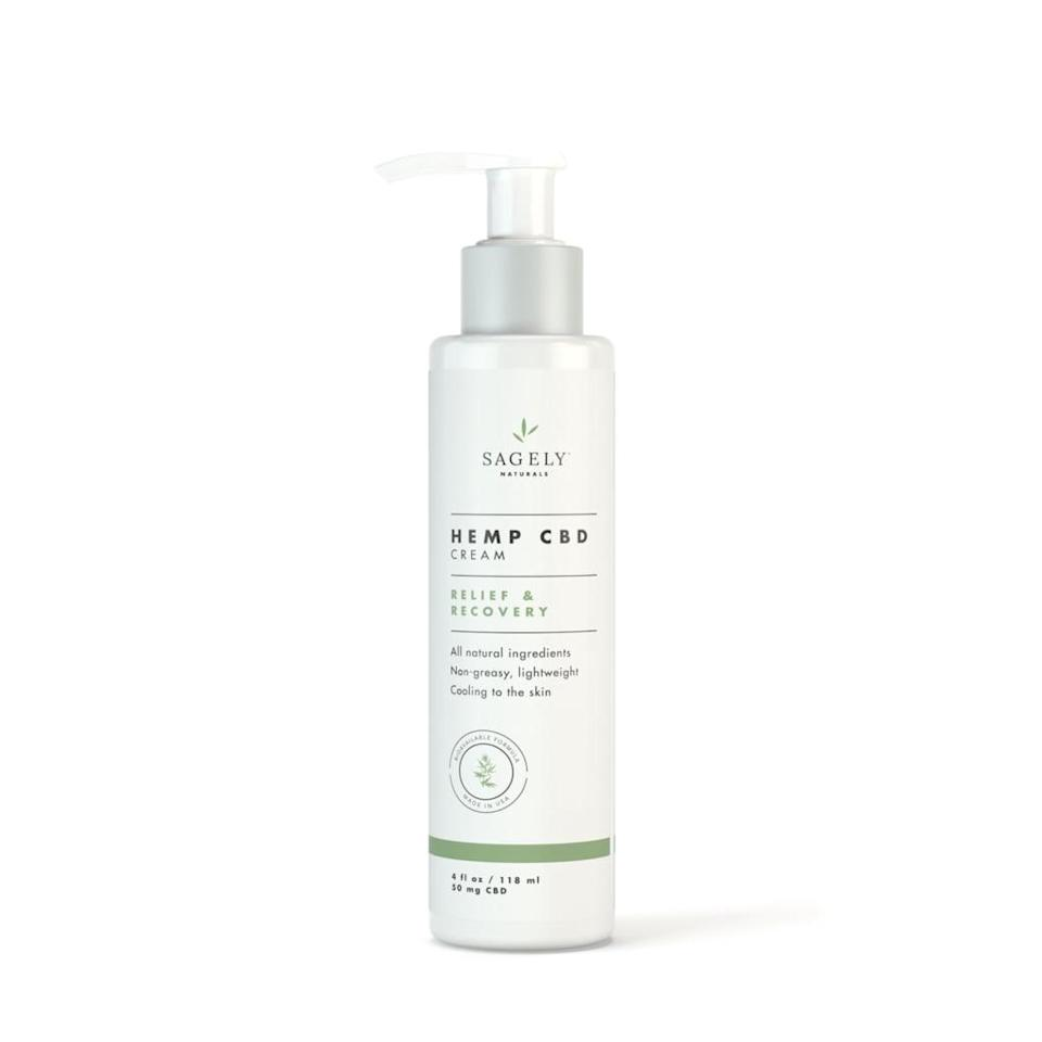 <p>A massage will feel 800 times better with this all-natural <span>Sagely Naturals Hemp CBD Cream Relief & Recovery</span> ($36). Your loved one will get some much needed muscular recovery and inflammation relief.</p>
