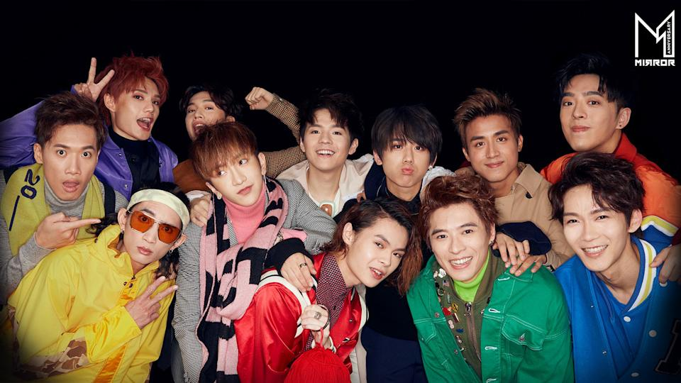 Cantopop band Mirror is made up of 12 members. From left to right, Top: Jeremy Lee, Jer Lau, Ian Chan, Keung To, Anson Kong, Edan Lui. Bottom: Stanley Yau, Lokman Yeung, Anson Lo, Tiger Yau, Frankie Chan, Alton Wong. (Photo: Facebook/MIRROR.WeAre)