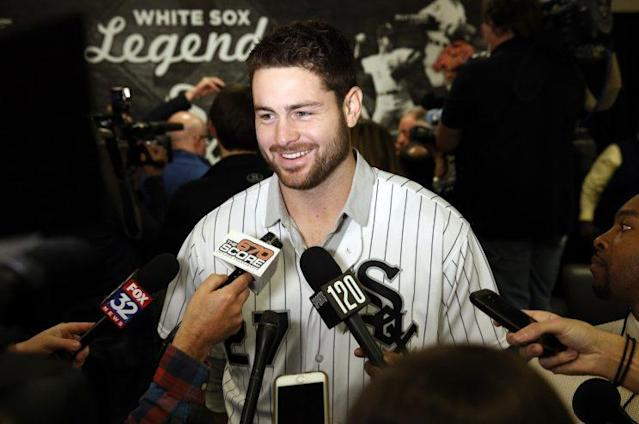 "Lucas Giolito was the biggest name the White Sox received in the <a class=""link rapid-noclick-resp"" href=""/mlb/players/9302/"" data-ylk=""slk:Adam Eaton"">Adam Eaton</a> deal. (AP Photo)"