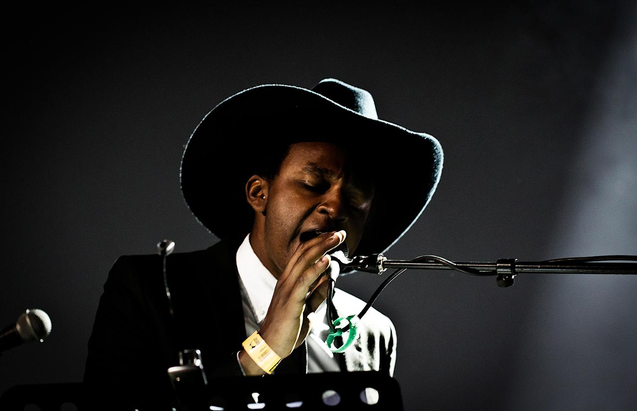 <p>William Onyeabor was a Nigerian funk musician. He died Jan. 16 at the age of 70.<br /> (Photo: Gonzales Photo / Alamy Stock Photo) </p>