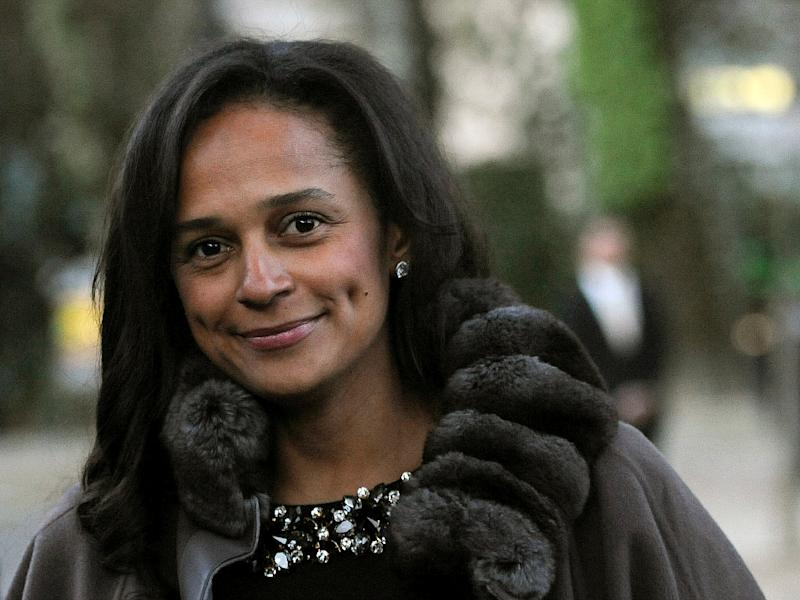 Isabel dos Santos headed Angola's state oil company until November when she was sacked (AFP Photo/FERNANDO VELUDO)