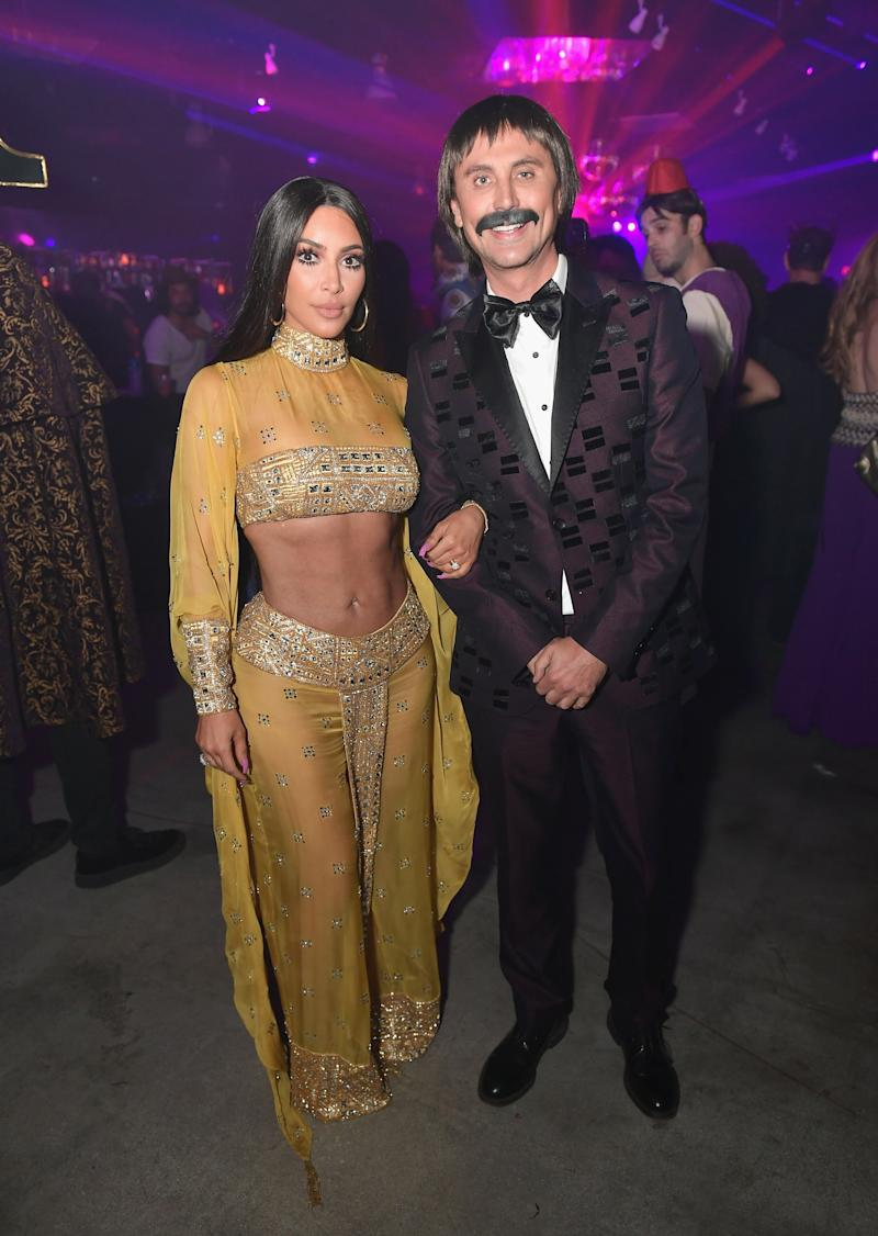 Kim Kardashian and Jonathan Cheban attend the Casamigos Halloween Party on October 27, 2017 in Los Angeles, California. Photo courtesy of Getty Images.