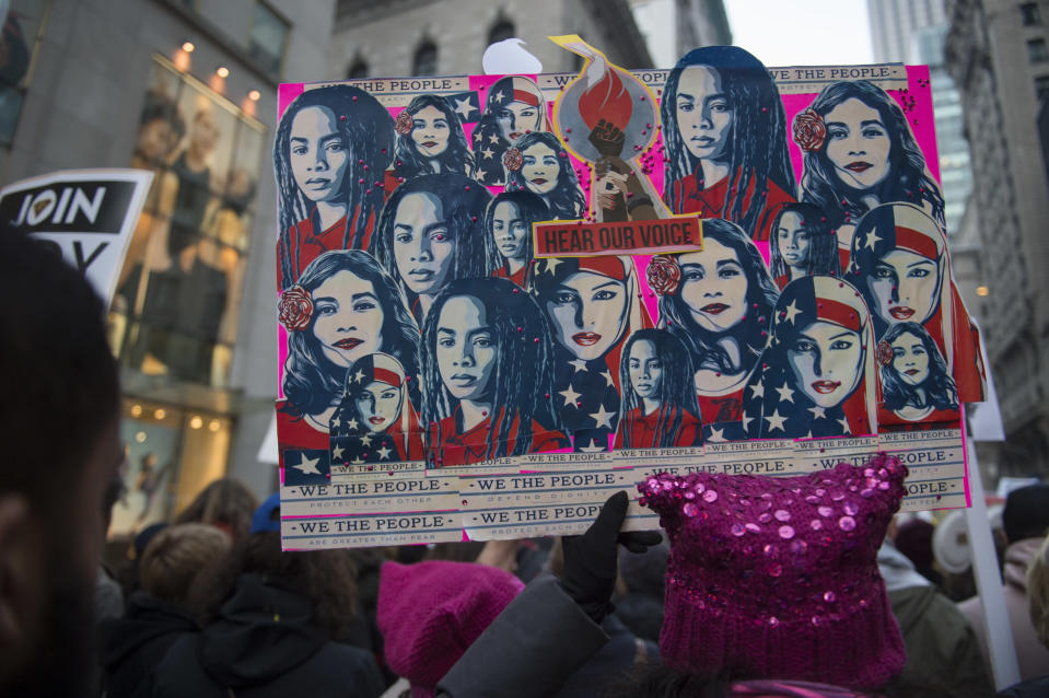 The Women's March helped changed the conversation around sexual harassment [Photo: Getty]