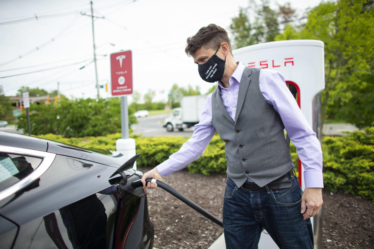 Lack of charging points was earmarked by the committee as a potential issue with the transition to electric cars. Photo: Kena Betancur/AFP via Getty Images