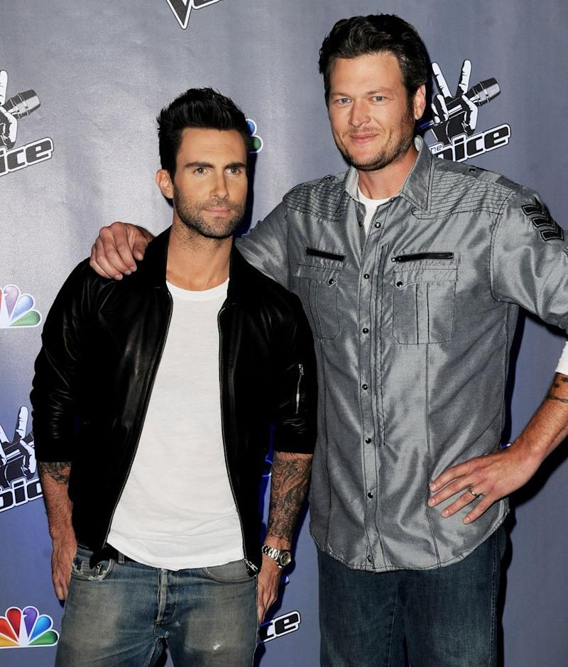 Adam Levine and Blake Shelton in 2011 | Kevin Winter/Getty