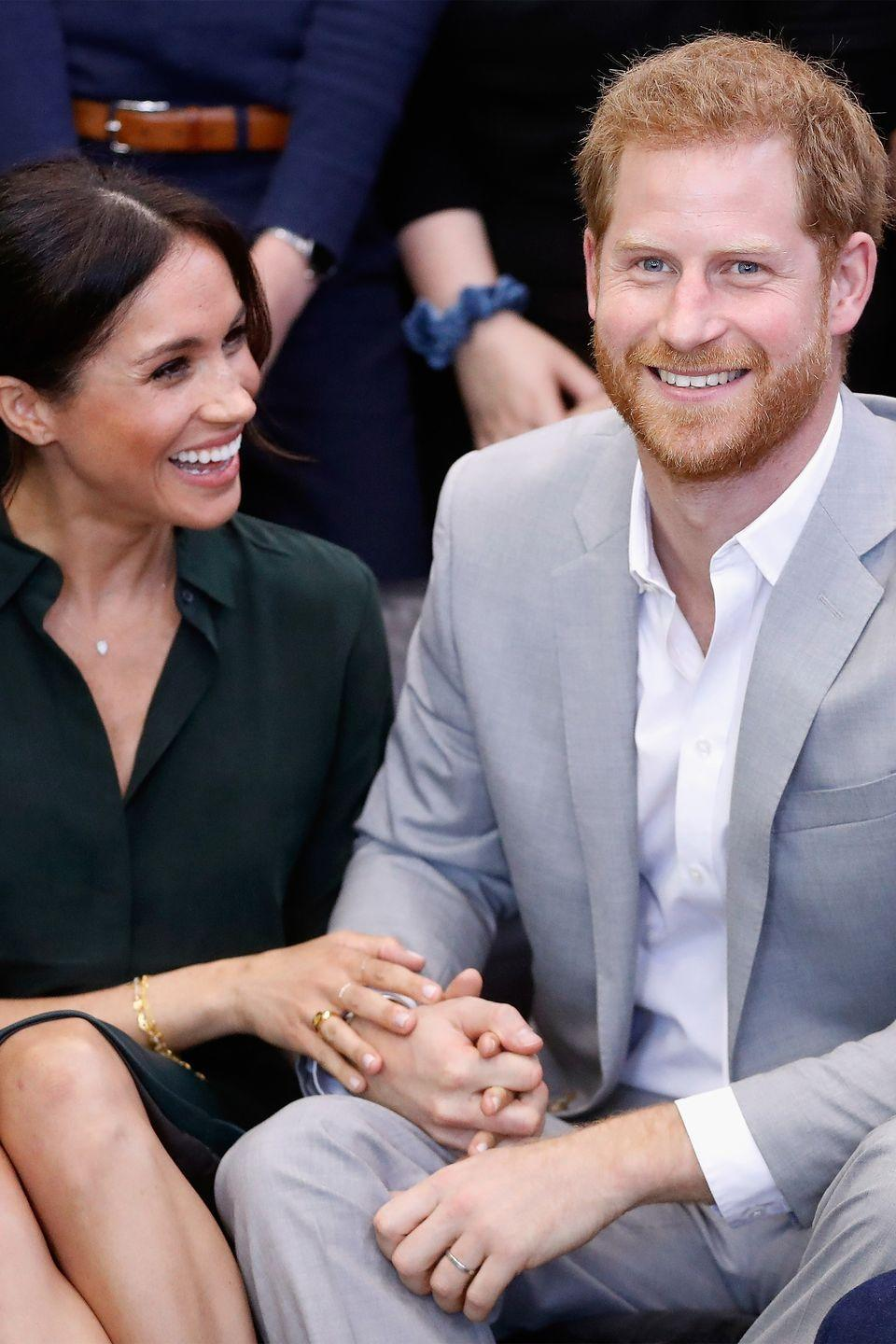 <p>That same day, they also visited the Joff Youth Centre in Peacehaven, where they made hearts melt as they held hands and giggled. </p>