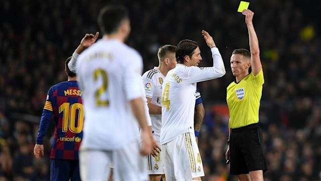 Raphael Varane had two early penalty shouts in Wednesday's Clasico and Sergio Ramos thinks VAR should have intervened.