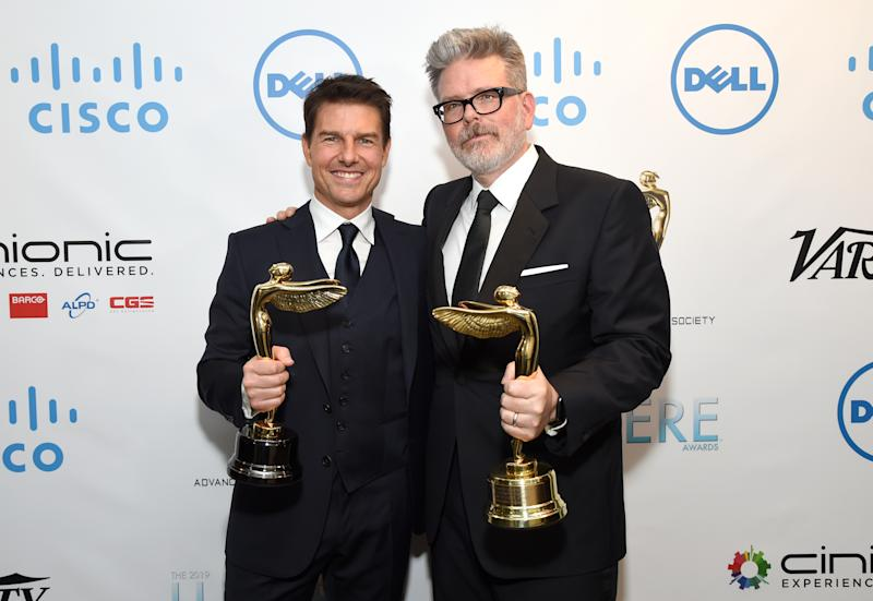 BURBANK, CA - JANUARY 30: Tom Cruise and Harold Lloyd Award For Filmmaking Recipient Christopher McQuarrie attend the 10th Annual Lumiere Awards at Warner Bros. Studios on January 30, 2019 in Burbank. (Photo by Michael Kovac/Getty Images for Advanced Imaging Society)