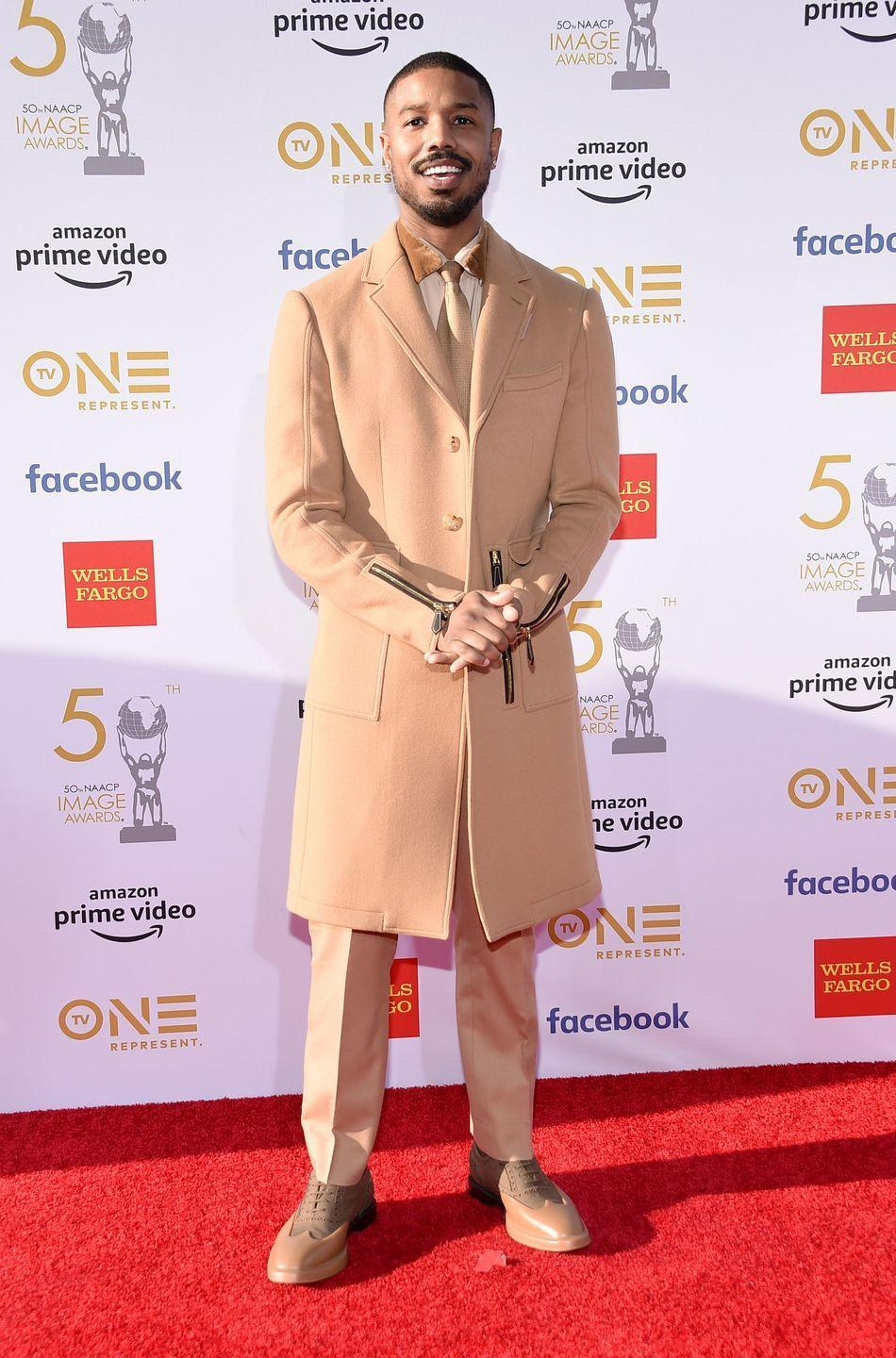 <p>In the past few years, Jordan's style has really started leaning into <em>fashion</em> fashion, and we are here for it. This all-camel look is just plain great.</p>