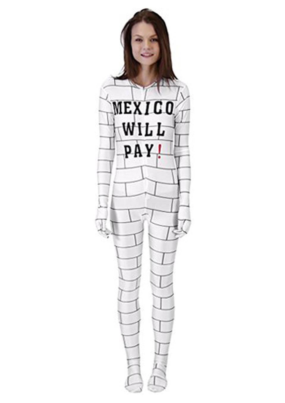 <p>If you thought the border patrol costumes were bad, wait till you get a look at this. Amazon were blasted for selling a distasteful 'Border Wall' costume, reading 'Mexico will pay!'<br><i>[Photo: Amazon]</i> </p>