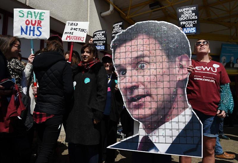 Mr Hunt was unpopular with junior doctors when he was health minister, who took strike action over hours and pay in 2016 (PA)