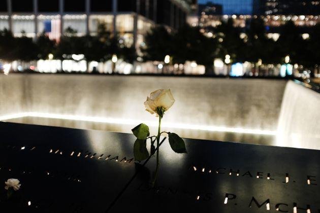 NEW YORK, NEW YORK - SEPTEMBER 10: A rose is placed into one of the names engraved into The World Trade Center Memorial pool, which stands on the the exact footprint where the Twin Towers stood, on September 10, 2019 in New York City. New York City is preparing to commemorate the 18th anniversary of the attacks on the World Trade Center in which 2,996 people were killed and over 6000 were injured.  (Photo by Spencer Platt/Getty Images) (Photo: Spencer Platt via Getty Images)