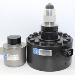 100K Compact Load Cell compared to a Standard 100K Load Cell (L to R)