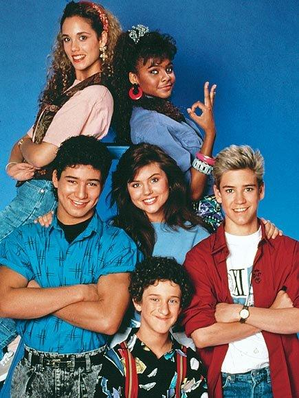 """Just teens when they hung out in the halls of Bayside High, the cast mates of <em>Saved by the Bell</em> — clockwise from top left,Elizabeth Berkley, Lark Voorhies, Tiffani Thiessen, Mark-Paul Gosselaar, Dustin Diamond and Mario Lopez —definitely dealt with their share of adolescent angst. """"Did we have crushes on our costars? Absolutely,"""" Thiessen told PEOPLE in 2009. """"But we were so young!""""  The show premiered 30 years ago today, Aug. 20; to mark the anniversary, we're catching up with the cast."""