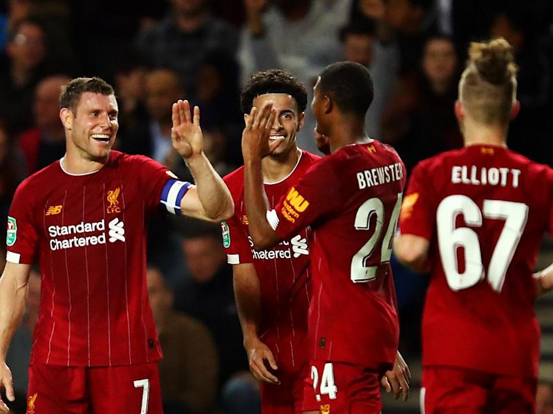 Liverpool recorded a 2-0 third round over MK Dons on Wednesday: Getty Images