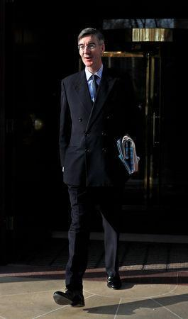 Britain's Conservative Party MP Jacob Rees-Mogg walks in Westminster in London, Britain, April 3, 2019. REUTERS/Peter Nicholls/Files