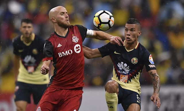 Michael Bradley (left) and Toronto FC look like overwhelming favorites to win the CONCACAF Champions League. (Getty)