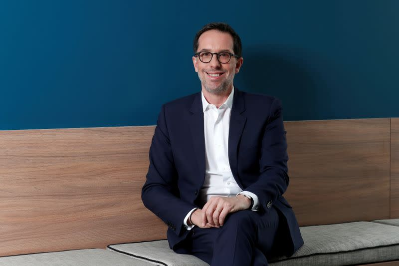 Nicolas Hieronimus, Deputy CEO of L'Oreal SA, poses for a photograph at their headquarters in Levallois-Perret