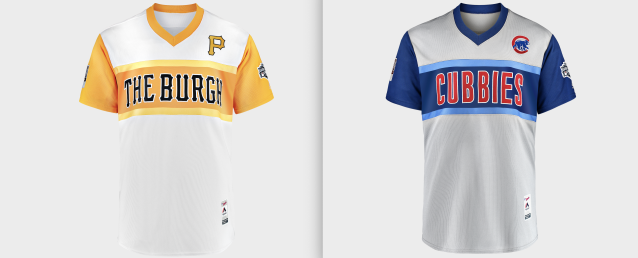 MLB is keeping some color in the Little League Classic jerseys. (Images via MLB)