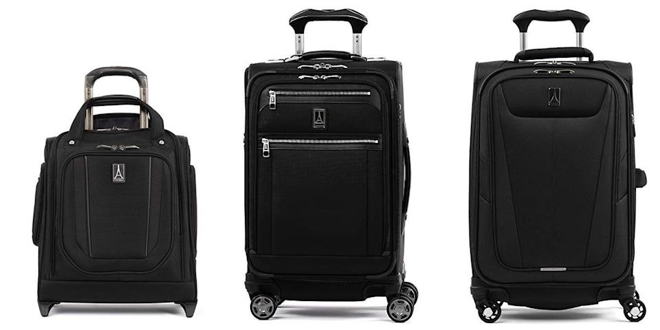 "<p class=""body-tip""><a class=""link rapid-noclick-resp"" href=""https://www.amazon.com/Luggage-Travelpro-Travel-Gear/s?rh=n%3A15743251%2Cp_89%3ATravelpro&tag=syn-yahoo-20&ascsubtag=%5Bartid%7C10055.g.26898407%5Bsrc%7Cyahoo-us"" rel=""nofollow noopener"" target=""_blank"" data-ylk=""slk:SHOP NOW"">SHOP NOW</a> </p><p>This company was founded by a pilot and it makes luggage specifically for airline personnel who travel for a living. It's primarily soft fabric luggage (though it does have some <a href=""https://www.amazon.com/Travelpro-Maxlite-Expandable-Hardside-Checked/dp/B07H3WF46P?tag=syn-yahoo-20&ascsubtag=%5Bartid%7C10055.g.26898407%5Bsrc%7Cyahoo-us"" rel=""nofollow noopener"" target=""_blank"" data-ylk=""slk:hardside"" class=""link rapid-noclick-resp"">hardside</a> available). There's excellent attention to detail that makes frequent flying easier, like <strong>cushioning around the handles, self-aligning wheels</strong> that let you roll the luggage in any direction, and abrasion-resistant nylon fabric.<br></p>"