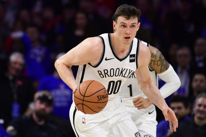 Rodions Kurucs allegedly choked his girlfriend and threatened to kill himself during an argument. (Getty)