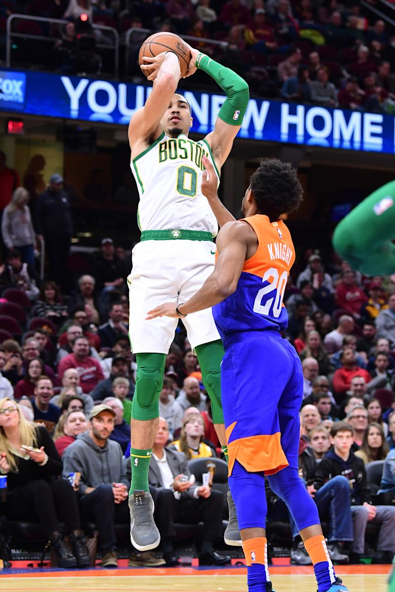 newest e5cdb 4268c Celtics beat Cavs 116-106 without Kyrie to snap 4-game slide