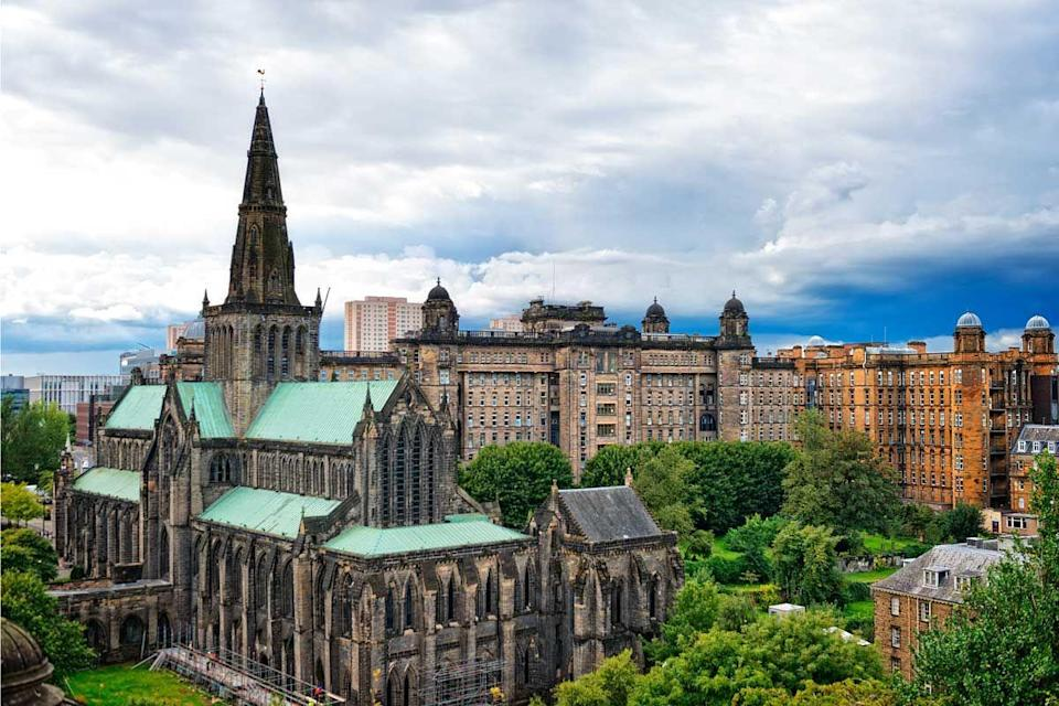 """<p>Glasgow has been voted the world's friendliest city, and is also the biggest in Scotland. <a href=""""https://www.lonelyplanet.com/scotland/glasgow"""" rel=""""nofollow noopener"""" target=""""_blank"""" data-ylk=""""slk:Lonely Planet"""" class=""""link rapid-noclick-resp"""">Lonely Planet</a> calls it 'one of Britain's most intriguing metropolises', probably thanks to the excellent museums, endless independent business and, of course, cosy pubs. The accent is something of a draw, too. </p><p><a class=""""link rapid-noclick-resp"""" href=""""https://go.redirectingat.com?id=127X1599956&url=https%3A%2F%2Fwww.lastminute.com%2Fhotels%2Fcity%2Fhotels-in-Glasgow-GB&sref=https%3A%2F%2Fwww.cosmopolitan.com%2Fuk%2Fentertainment%2Ftravel%2Fg30397906%2Fbest-places-to-visit-uk%2F"""" rel=""""nofollow noopener"""" target=""""_blank"""" data-ylk=""""slk:BOOK NOW"""">BOOK NOW</a></p>"""