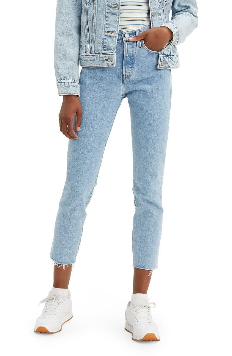 "<br><br><strong>Levi's</strong> Wedgie Icon Fit High Waist Raw Hem Ankle Jeans, $, available at <a href=""https://go.skimresources.com/?id=30283X879131&url=https%3A%2F%2Ffave.co%2F34rgtWu"" rel=""nofollow noopener"" target=""_blank"" data-ylk=""slk:Nordstrom"" class=""link rapid-noclick-resp"">Nordstrom</a>"