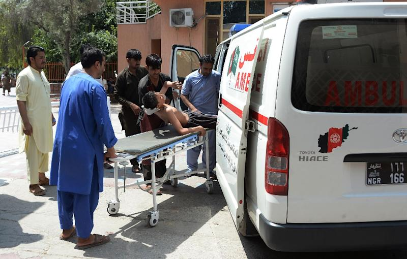 At least 10 people were wounded in the attack on the compound (AFP Photo/Noorullah SHIRZADA)