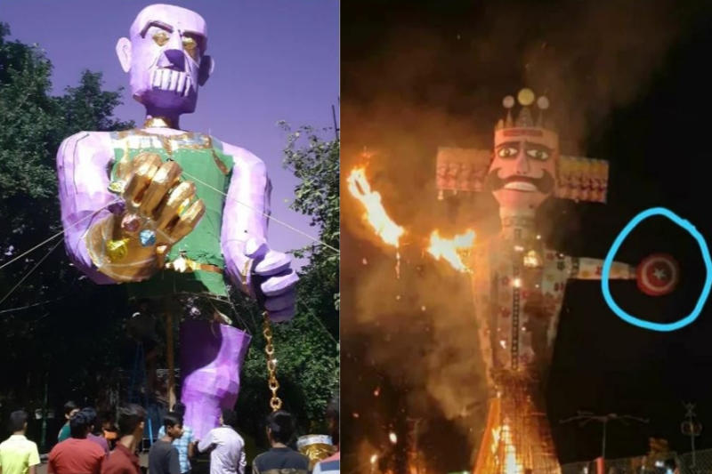 Avengers-Themed Ravana up in Flames as Marvel Makes Its Way into the Dussehra Mood