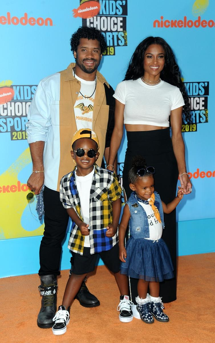 Russell Wilson, Ciara, and family